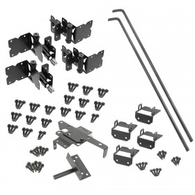 Durables Stainless Steel Powder-Coated Gate Hardware For Horse Fence - Double Gate Kit
