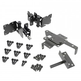 Durables Stainless Steel Powder-Coated Gate Hardware For Horse Fence - Single Gate Kit