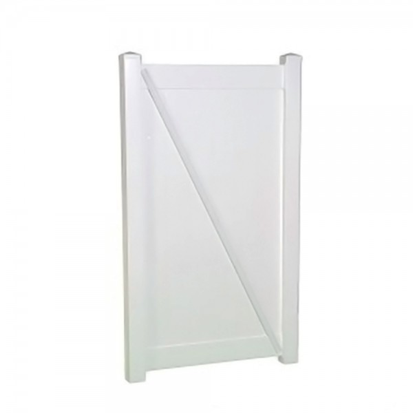 "Durables 4' x 68.5"" Ashforth Single Gate (White) - SWPR-T&G-4X68.7"