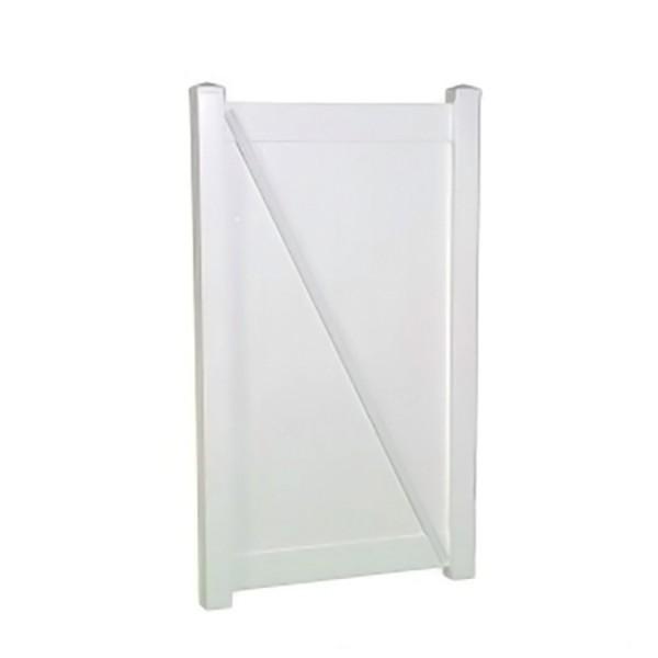 "Durables 5' x 38.5"" Ashforth Single Gate (White) - SWPR-T&G-5x38.7"