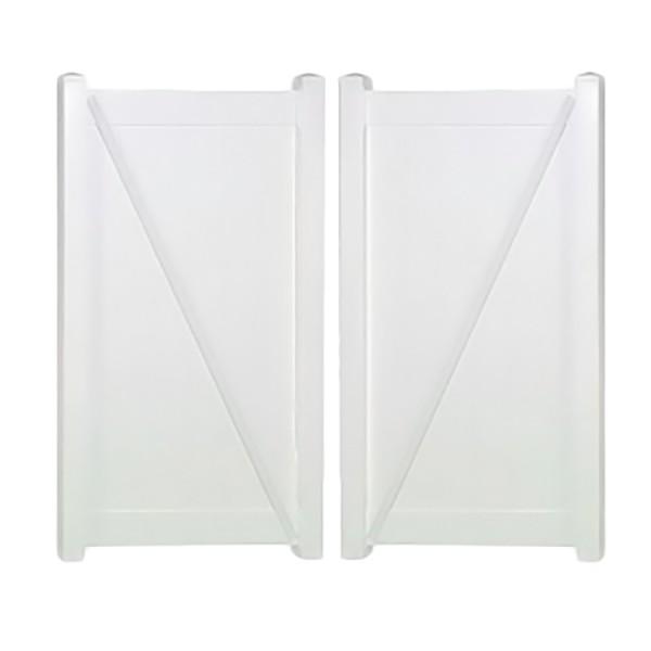 """Durables 4' x 44.5"""" Ashforth Double Gate (White) - DWPR-T&G-4X44.7"""