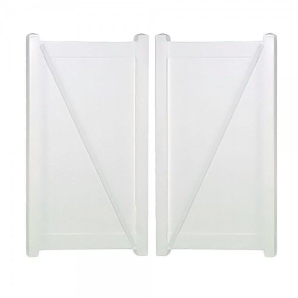 "Durables 4' x 44.5"" Ashforth Double Gate (Tan) - DTPR-T&G-4X44.5 (White Shown As Example)"