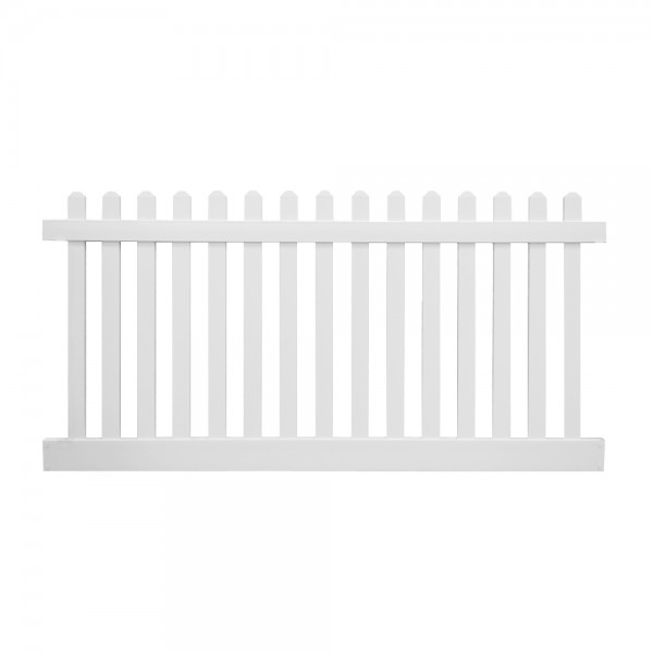 Durables 3' x 8' Burton Picket Fence Section (White) - PWPI-3R5.5-3X8DE