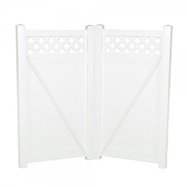"""Durables 5' x 44.5"""" Canterbury Double Gate (Tan) - DTPR-LAT-5x44.5 (White Shown As Example)"""