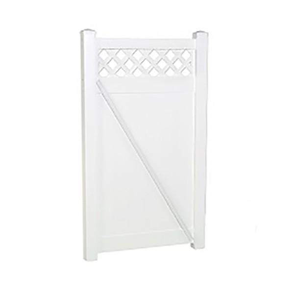 "Durables 5' x 38.5"" Canterbury Single Gate (White) - SWPR-LAT-5x38.7"