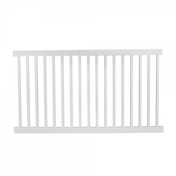 Durables 5' x 8' Gillingham Pool Fence Section w/ Aluminum Insert in Bottom Rail (White) - PWPO-1.5-5x10