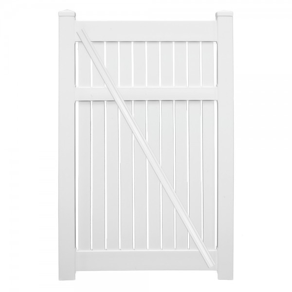 "Durables 6' x 46"" Milton Single Gate (Tan) - STSP-SEMI-6x46 (White Shown For Example)"