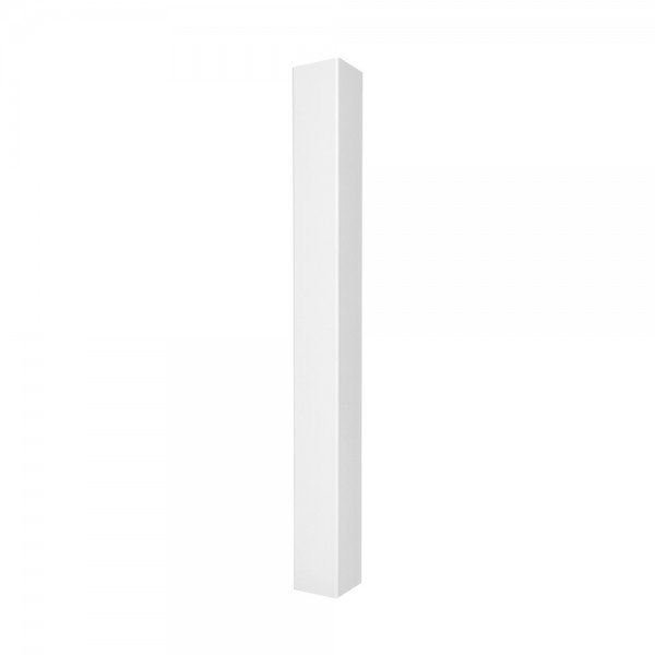 "Durables 4"" Sq. End Gate Post (White) - LWPT-GEND-4X72 (Blank Post Shown As Example)"