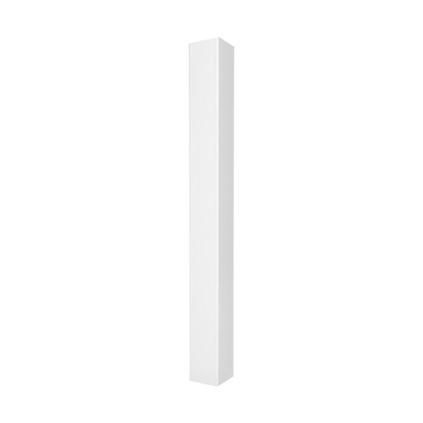 "Durables 4"" x 4"" x 38"" Blank Vinyl Railing Post (White) - LWPT-BLANK-4X39"
