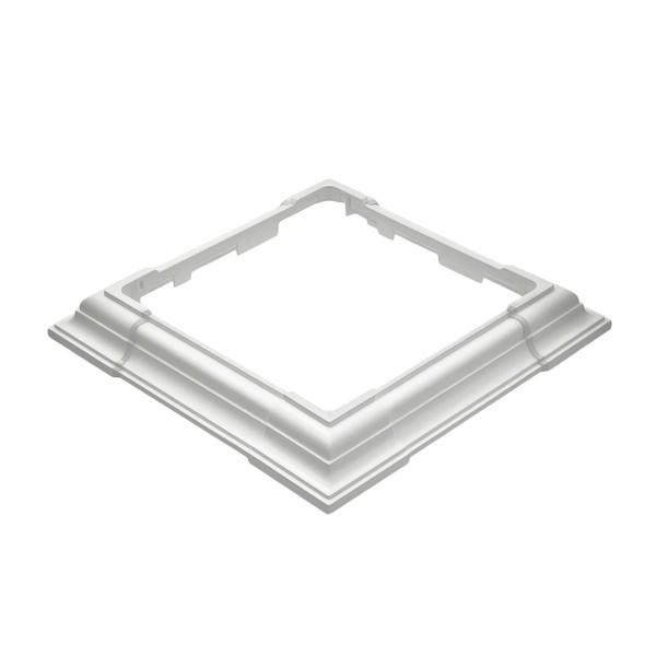 Durables 4-Piece Adjustable Vinyl Post Skirt (White)