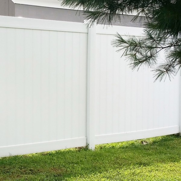 Durables 6' High Ashforth Privacy Fence (White)