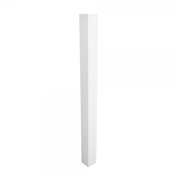 "Durables 4"" Sq. Blank Post (White) - LWPT-BLANK-4x84"