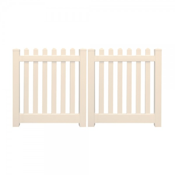 "Durables 3' x 60"" Burton Double Gate (Tan) - DTPI-3R5.5-3X60"