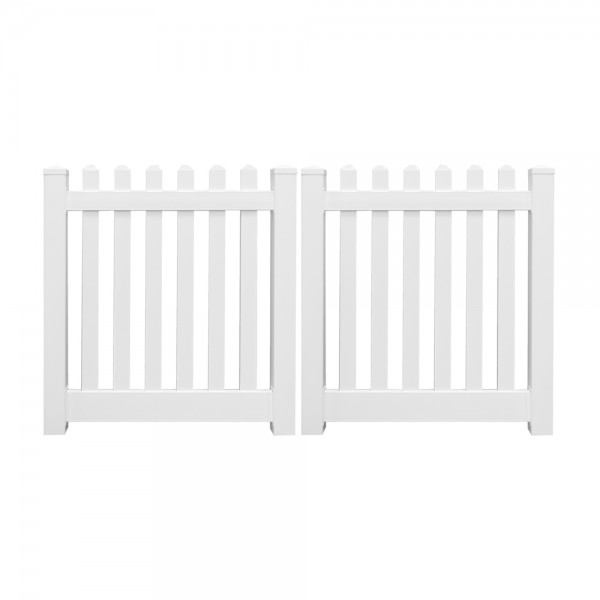 "Durables 3' x 72"" Burton Double Gate (White)"
