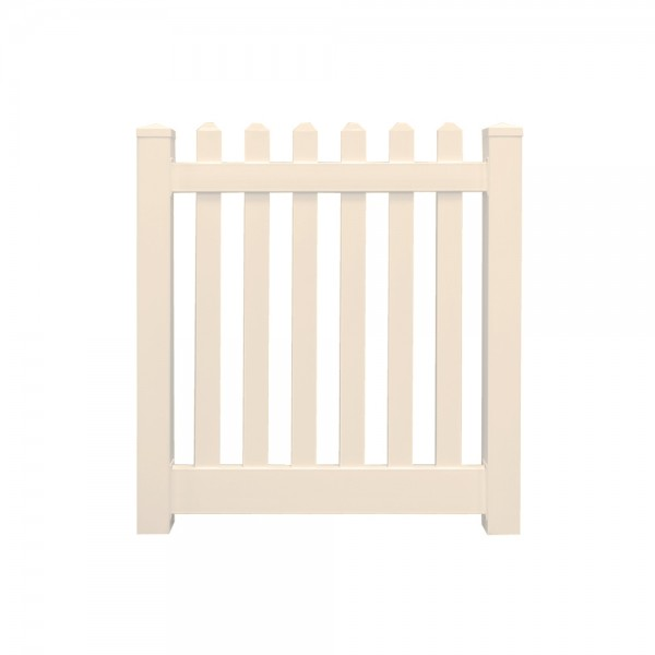 "Durables 3' x 60"" Burton Single Gate (Tan) - STPI-3R5.5-3X60"