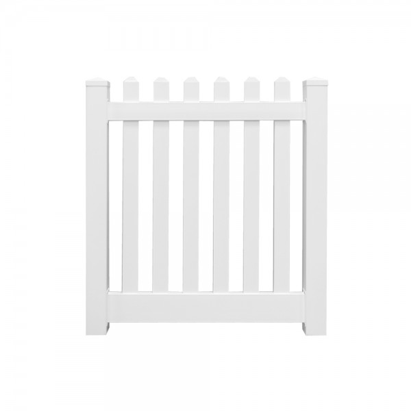 "Durables 3' x 48"" Burton Single Gate (White)"