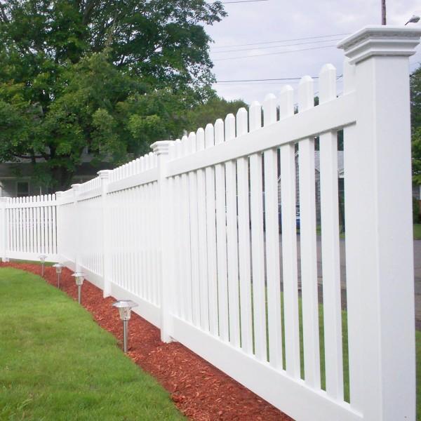 Durables 5' High Burton Picket Fence (Tan) - White Shown As Example