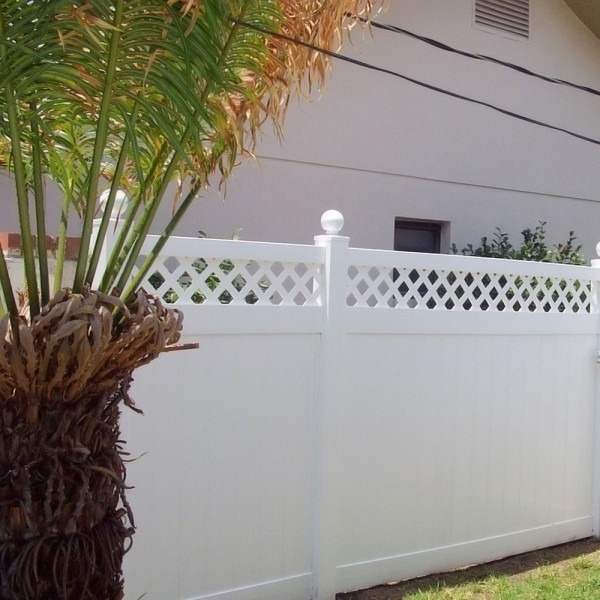 Durables 5' High Canterbury Privacy Fence (White)