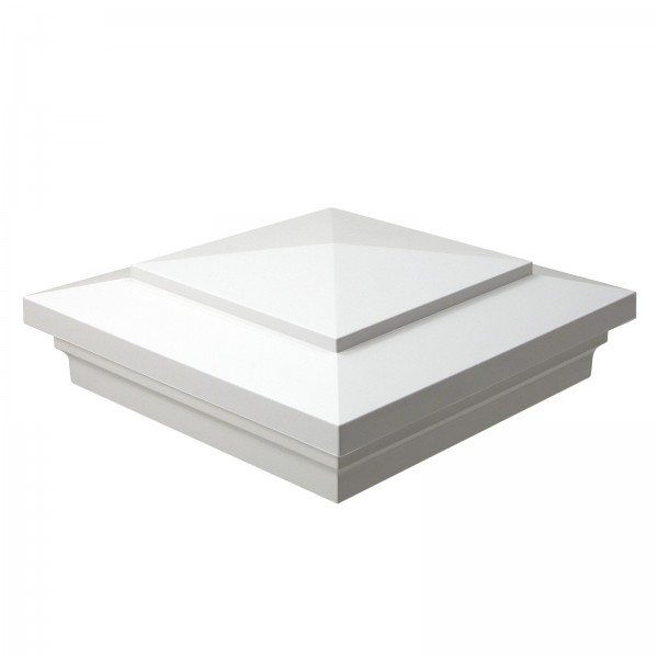 "Durables 5"" Sq. Cape May Post Cap (White) - AWCP-CAPEMAY-5"