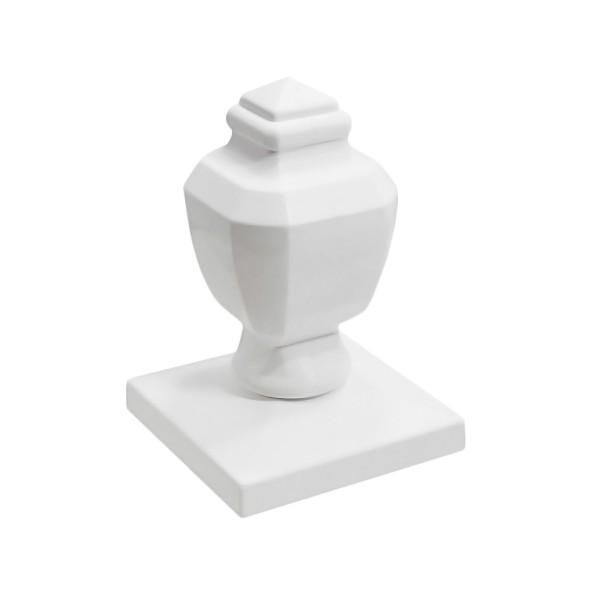 """Durables 5"""" Sq. Coachman Post Cap (White) - AWCP-COACHMAN-5"""