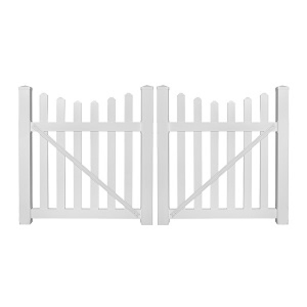 "Durables 3' x 48"" Darlington Double Gate (White)"
