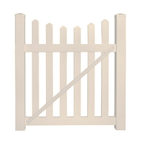 "Durables 3' x 60"" Darlington Single Gate (Tan) - STPI-3SC-3X60"
