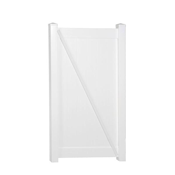 "Durables 5' x 42 5/8"" Wendell Single Gate (White) - SWPR-T&G11.3-5X42.625"