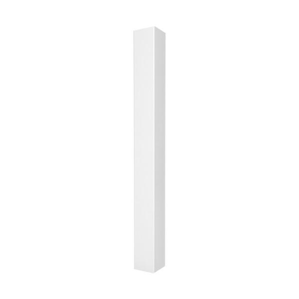 "Durables 4"" x 4"" x 48"" Blank Vinyl Railing Post (White) - LWPT-BLANK-4X48"
