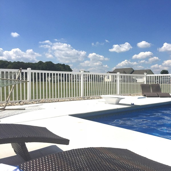 Durables 5' High Gillingham Pool Fence (Tan) - White Shown As Example