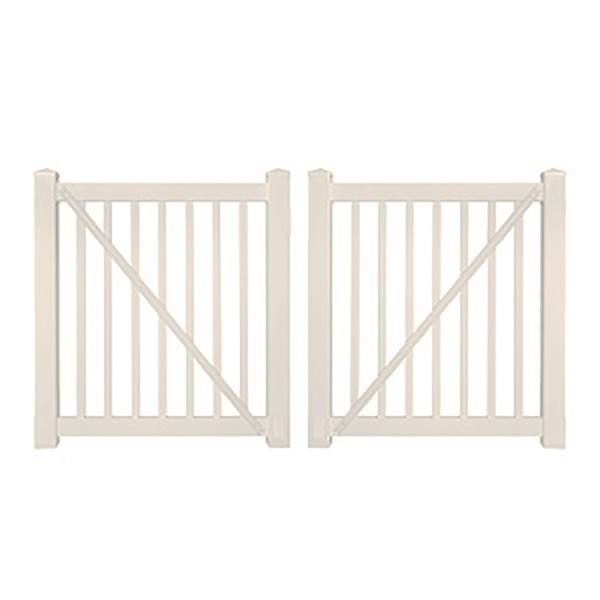 "Durables 5' x 60"" Gillingham Pool Fence Double Gate (Tan) - DTPO-1.5-5X60"