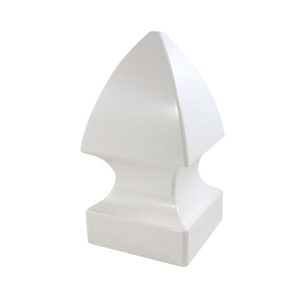 "Durables 4"" Sq. Gothic Post Cap (White) - AWCP-GOTHIC-4"