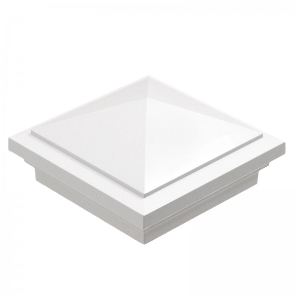 "Durables 4"" Sq. Haven Post Cap (White) - AWCP-HAVEN-4"