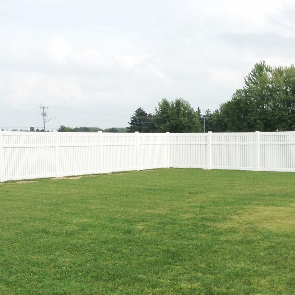 Durables 5' High Milton Semi-Privacy Fence (White)