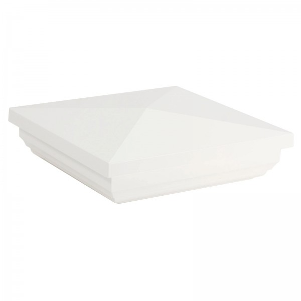 "Durables 4"" Sq. New England Post Cap (White) - AWCP-NEWENG-4"
