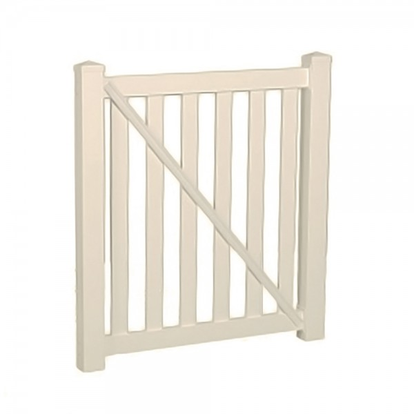 "Durables 5' X 48"" Waldston Pool Fence Single Gate (Tan) - STPO-3-5X48"