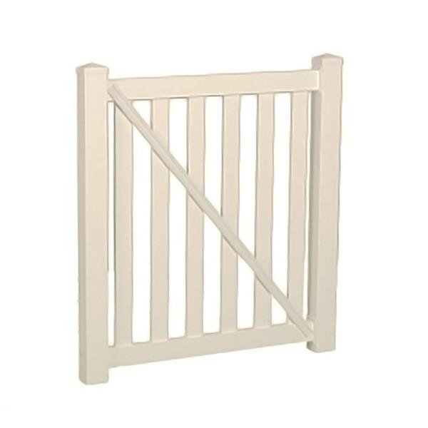 "Durables 5' X 72"" Waldston Pool Fence Single Gate (Tan) - STPO-3-5X72"