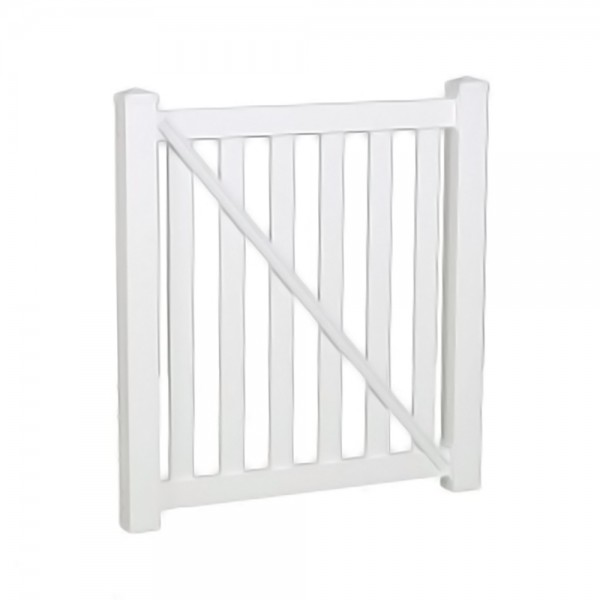 """Durables 5' X 60"""" Waldston Pool Fence Single Gate (White) - SWPO-3-5X60"""