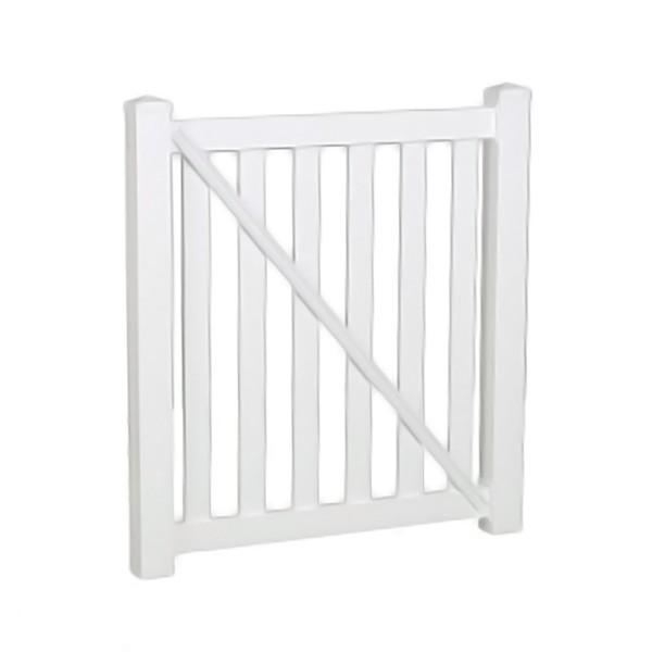 """Durables 5' X 72"""" Waldston Pool Fence Single Gate (White) - SWPO-3-5X72"""
