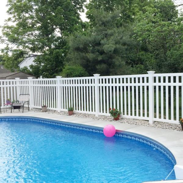 Durables 5' High Waldston Pool Fence (Tan) - White Shown As Example