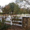 Durables 3-Rail Vinyl Ranch Rail Horse Fence with 7.5' Posts (White) - Priced Per Foot